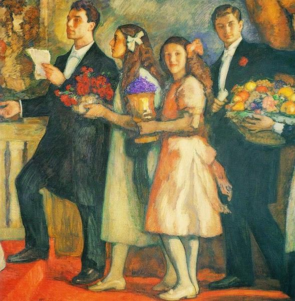 Leonid Pasternak - Leonid Pasternak's children (1914)