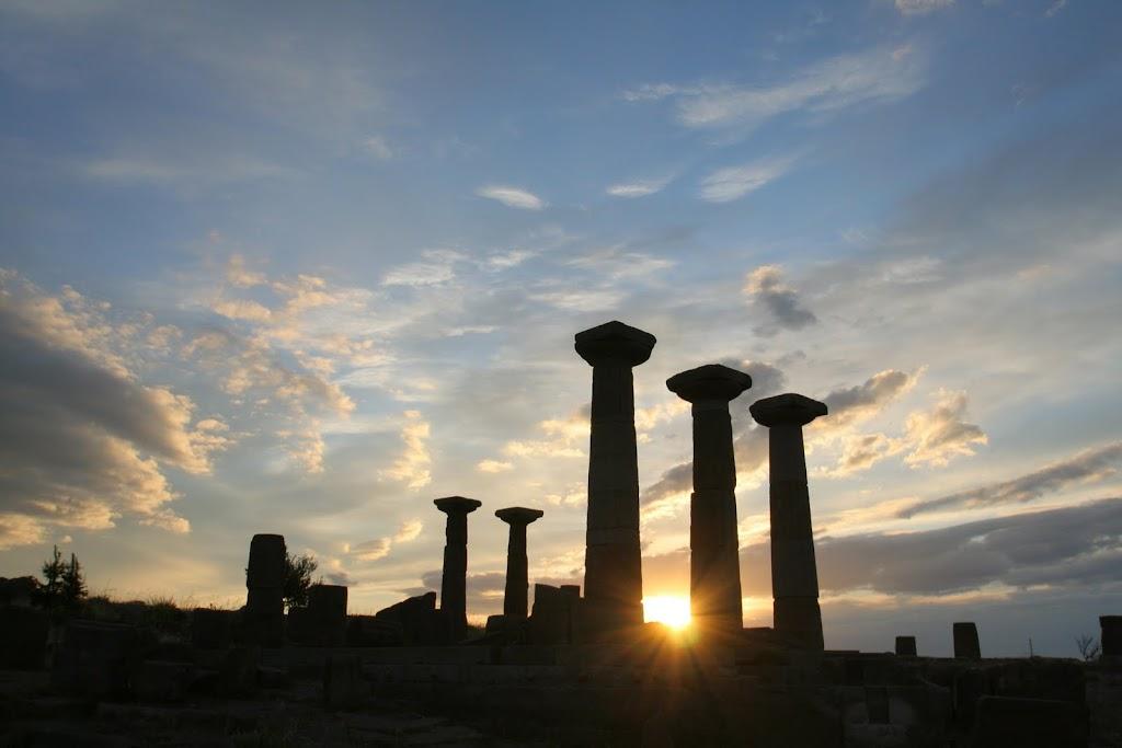 Ассос, рассвет, Афина, храм