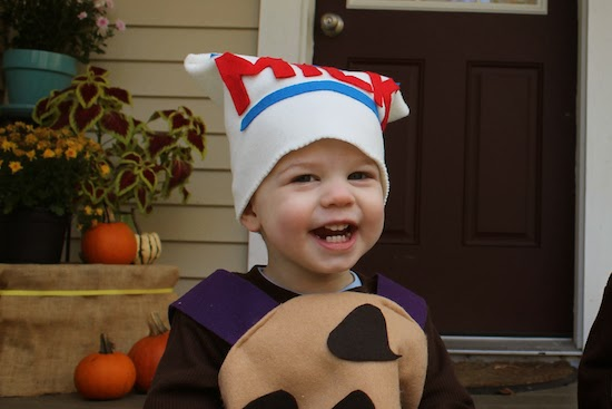 I didnu0027t use a pattern or document my full sewing process on this costume but I think anyone with beginner to intermediate sewing skills could tackle the ...  sc 1 st  Domestic Adventure & Cookies and Milk Toddler Costume | Domestic Adventure