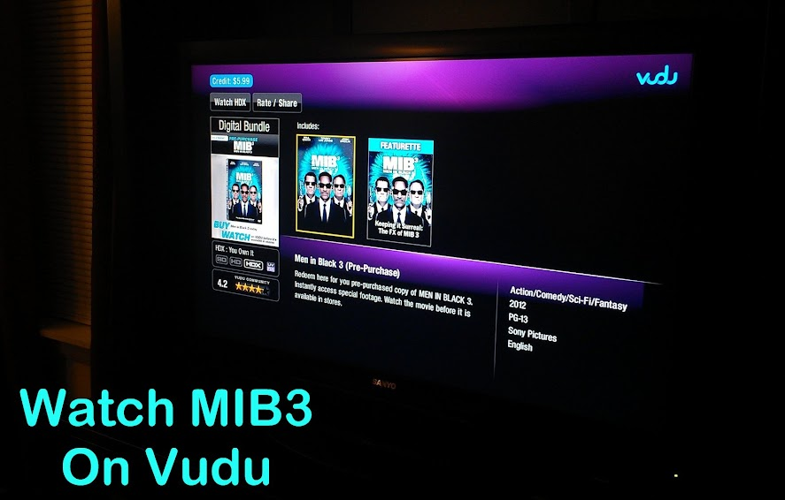 Advanced viewing of MIB3 on Vudu #SeeMIB3