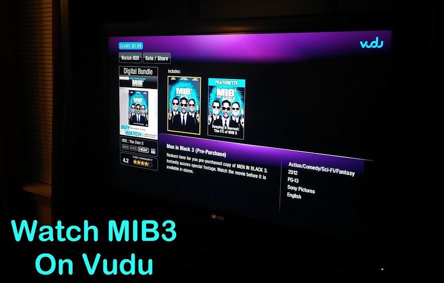 Advanced viewing of MIB3 on Vudu #SeeMIB3