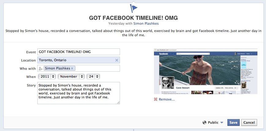 Facebook timeline: Cool or Creepy?