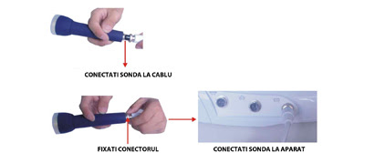 Conectarea Accesoriilor Aparat Profesional Ultrasonic