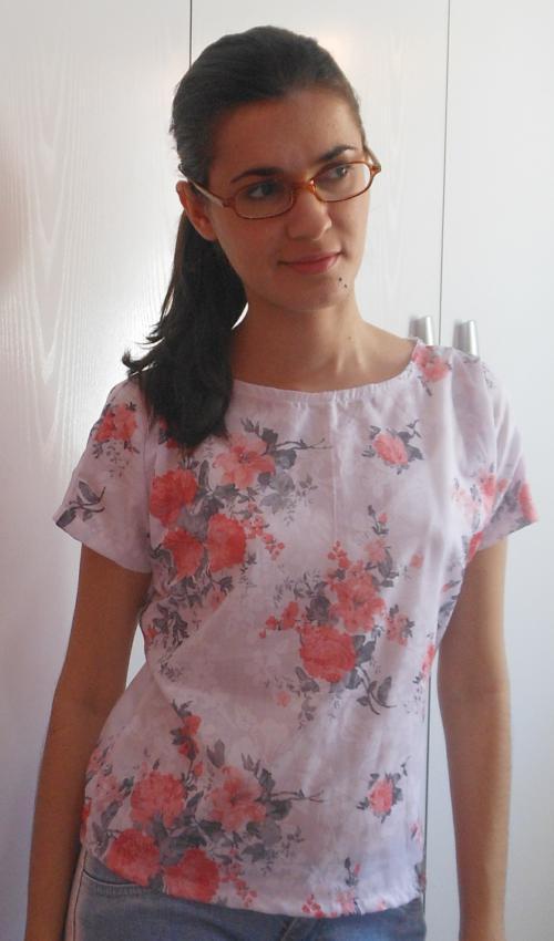Costureira aprendiz - blusinha de manga japonesa