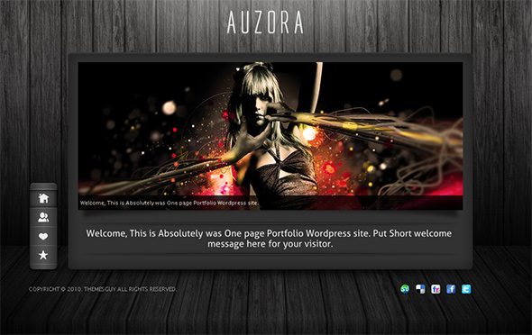 Auzora WordPress Theme for Artists and Designers