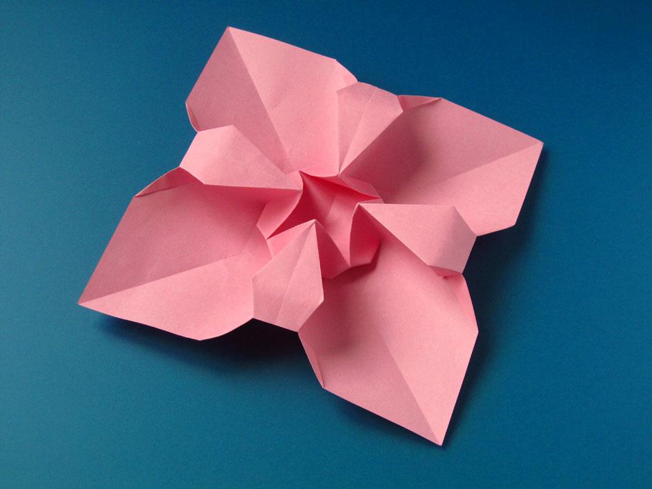 Origami foto Fiore quadrato - Square Flower by Francesco Guarnieri