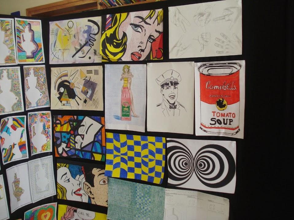 Exposição de trabalhos de Educação Visual