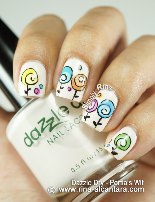 Happy Mother's Day Nail Art Design on Dazzle Dry Portia's Wit