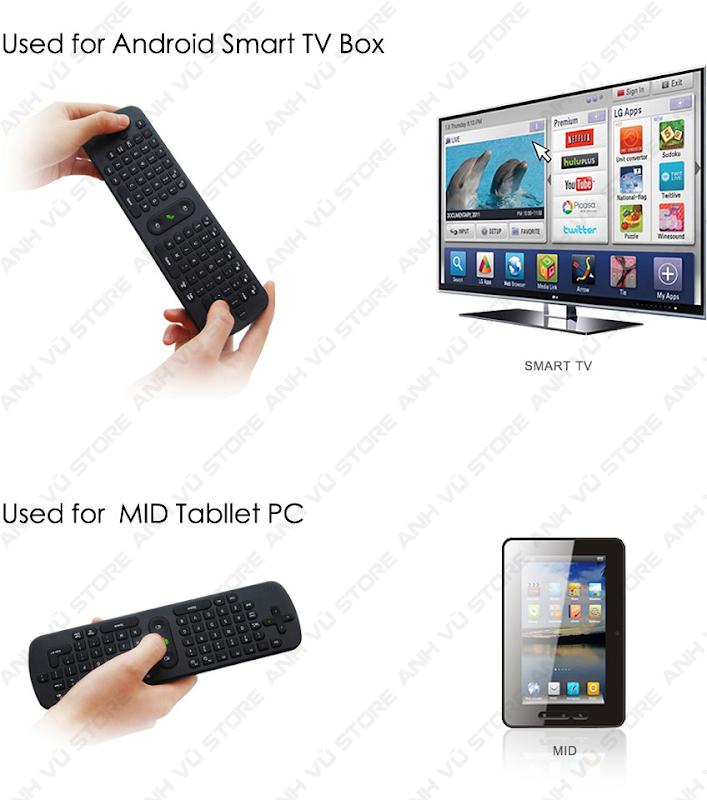 Measy RC11 Bàn phím chuột bay không dây cho Android TV Box 08