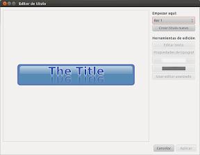 Creación de títulos animados en OpenShot