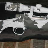 Remington 700 Custom Winter Digital Camouflage Duracoat SL