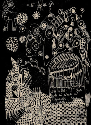 Strange Dream, drawing by SRS, 2012