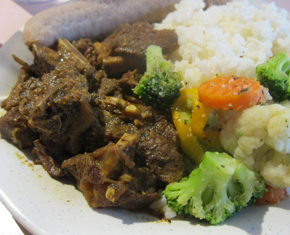 Curry Goat - small lunch portion - $7.95