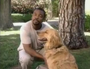LeVar Burton and his dog Roy