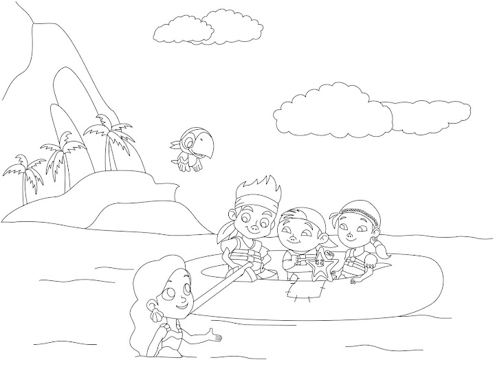 free pirate mermaid coloring pages - photo#18