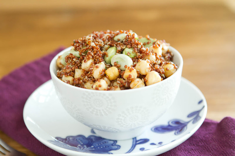 Fava Bean and Quinoa Salad   Naturally Ella