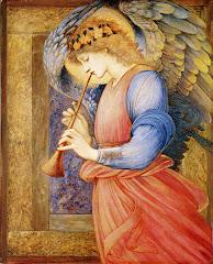 burne-jones, angel, playing, flageolet, 1878, music, instrument