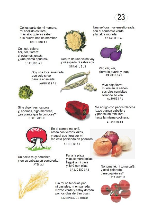 Los duendes y hadas de Ludi: Adivinanzas de frutas , frutos y