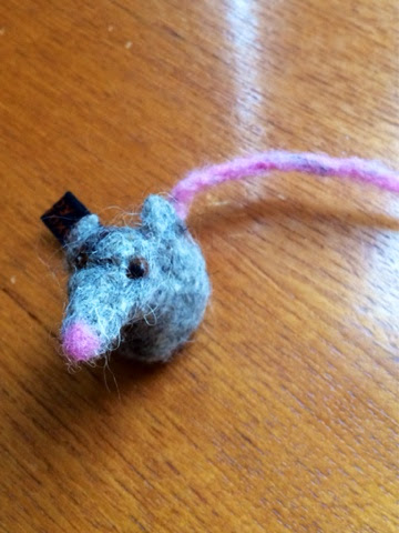Felted mouse, Mrs Fox's