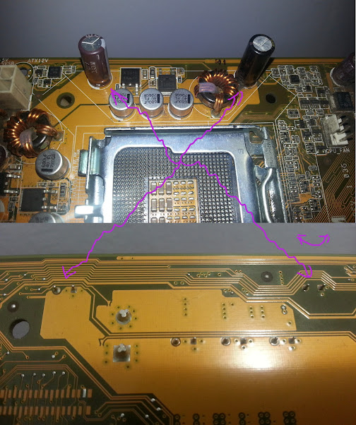motherboard photo collage