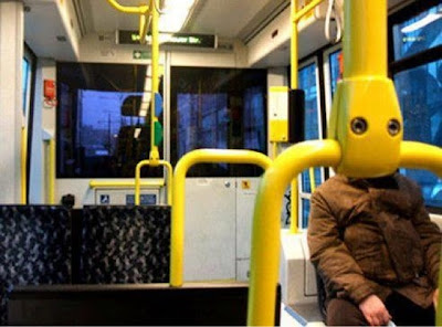 Funny Bus Commuter Image Photo