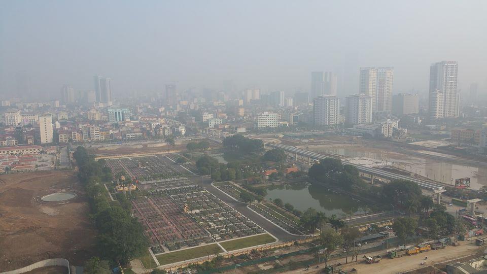 View nhìn phía đông ra công viên