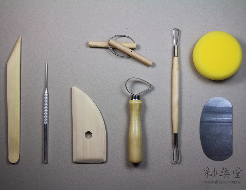 陶藝工具-八件式拉坯工具組中國製
