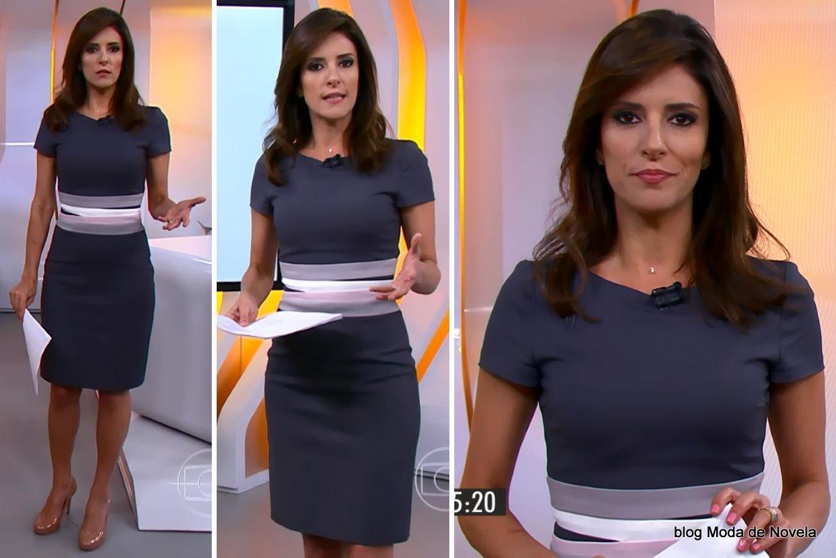 moda do programa Hora 1, vestido da Monalisa Perrone dia 22 de dezembro de 2014