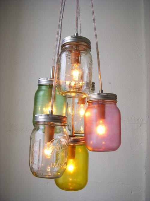 Weekend project mason jar pendant lights poppytalk weekend project mason jar pendant lights mozeypictures Images