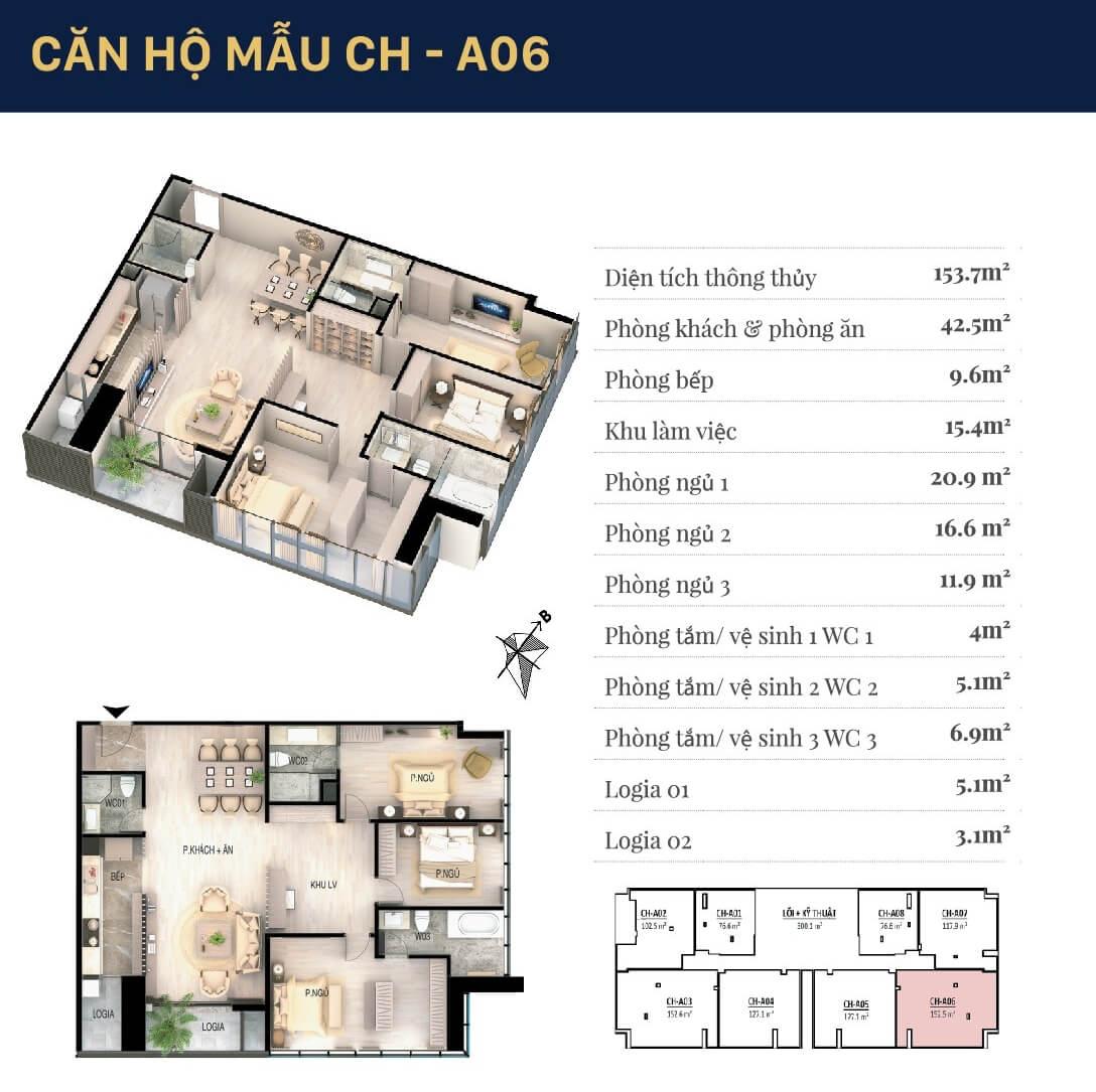Chi tiết căn hộ 06 dự án chung cư Grandeur Palace