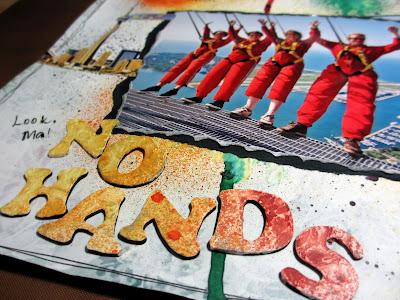 """""""No hands"""" -otsikon kirjaimetkin on muuten gessotettu ja mistattu kurssilla"""
