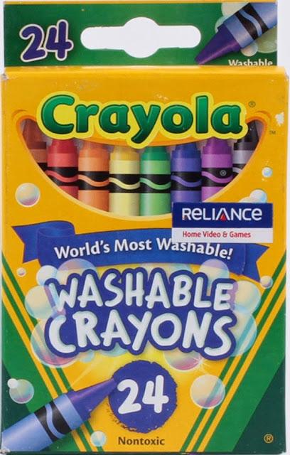 Bút sáp Crayola 24 màu Washable Crayons được làm từ nguyên liệu có sẵn trong thiên nhiên nhiên