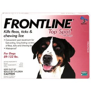 Frontline Flea Prevention 3 pack Dog X-large 89-132 Lbs