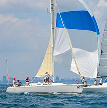 J/109 sailing Ontario