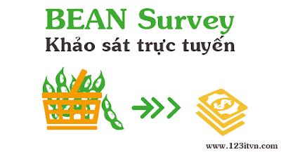 Kiếm tiền từ khảo sát trực tuyến trên BEAN Survey