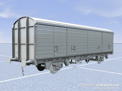 Fastline Simulation: First VDA van baked and into RailWorks.