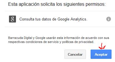 Позволяме да взема данни от Гугъл Аналйтикс