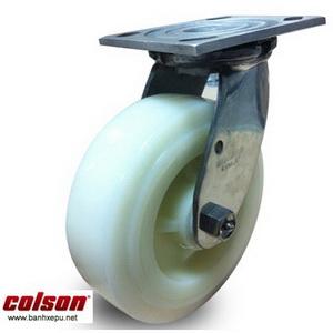 Bánh xe đẩy Nylon càng thép không rỉ inox 304 | 64001