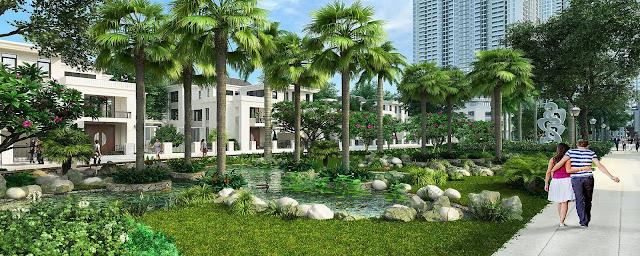 Khuôn viên xanh An Bình City