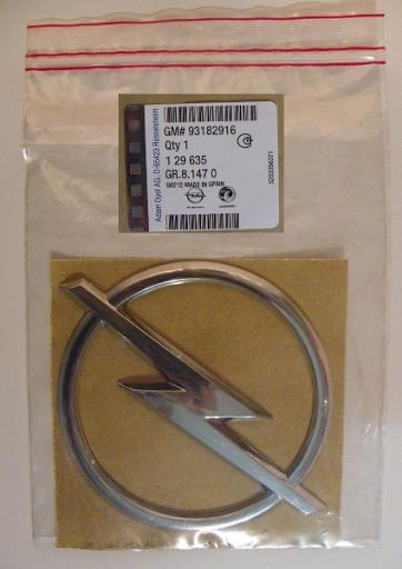 Anagrama oficial OPEL adhesivo con un