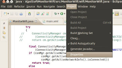 API Level en Android, cómo indicar el API Level en Eclipse