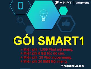 Nhận 31GB, 1500 phút nội mạng, 20 phút ngoại mạng gói SMART1 (SM1) VinaPhone