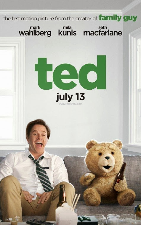 Poster Of Ted (2012) Full Movie Hindi Dubbed Free Download Watch Online At Alldownloads4u.Com