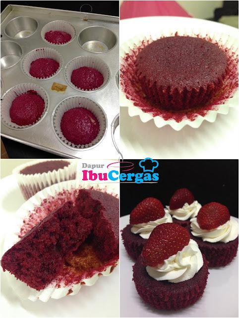 Red Velvet Cake Ubi Bit Beetroot Pewarna Semulajadi