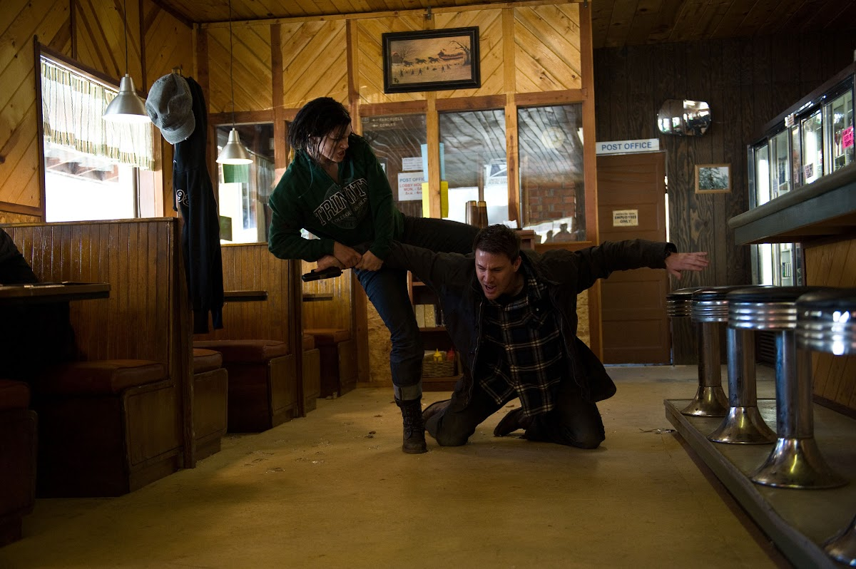 Haywire Gina Carano is Mallory and Channing Tatum is Aaron