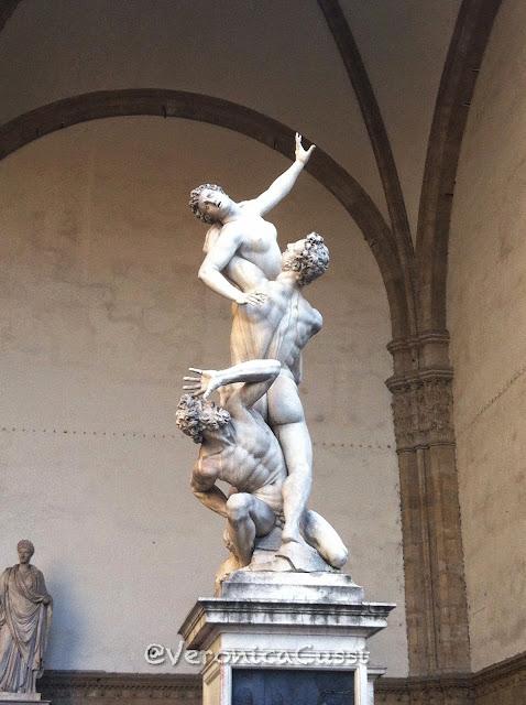Rapto de las Sabinas, Piazza della Signoria, Florencia