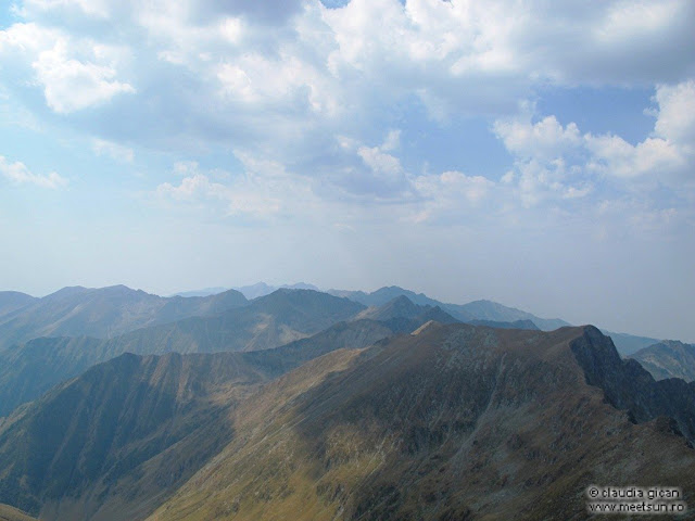 panorama Fagaras de pe Vistea-Moldoveanu