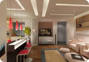 как оформить кухню гостиную