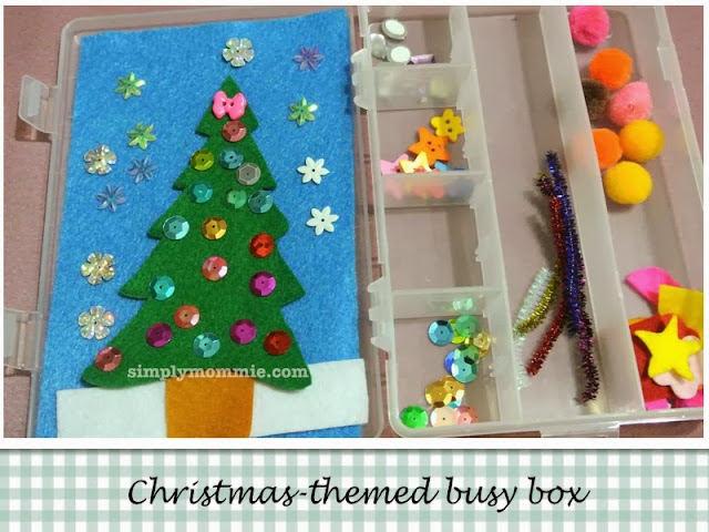 christmas themed busy bags
