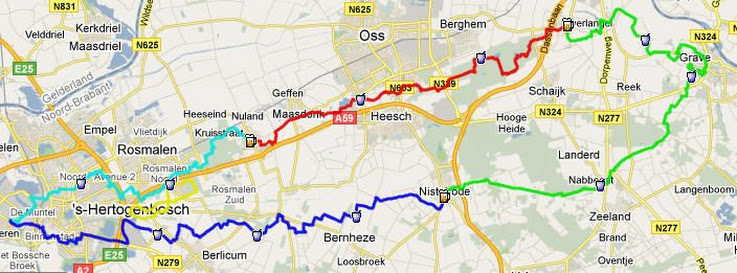 De Bossche 100, 100/110km( NL), 110 places: 25-26/ 01 / 2013 Route%2525201